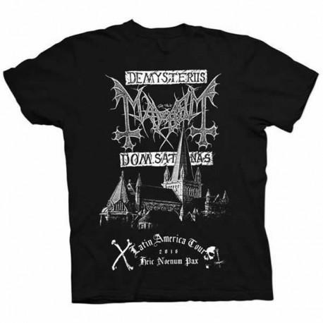"Mayhem ""De Mysteriis Dom Sathanas - Latin America Tour 2016"" Camisa oficial"