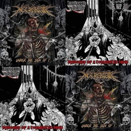 """Necrobiotic / Nauseous Surgery """"Under the Sign of I / Prisoner of a Tormented Mind"""" Slipcase CD"""