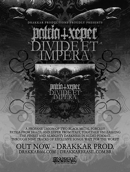 Patria/Xeper Split CD by Drakkar Brasil